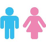 トイレ 女性9名 男性10名